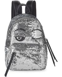 Chiara Ferragni - Sequin Embellished Wink Backpack - Lyst
