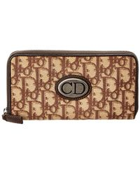 Dior - Brown Trotter Canvas Zippy Wallet - Lyst