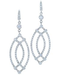 Kwiat - Contorno 18k 0.97 Ct. Tw. Diamond Drop Earrings - Lyst