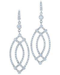 Kwiat - Contorno 18k 0.97 Ct. Tw. Diamond Drop Earrings - Lyst
