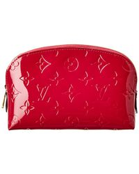 40143e602a5 Louis Vuitton - Red Monogram Vernis Leather Cosmetic Case - Lyst