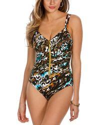 a6a46ec57ee15 Lyst - H M One-shoulder Bikini Top in Black
