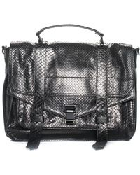 Proenza Schouler - Black Python Leather Ps1 Satchel - Lyst