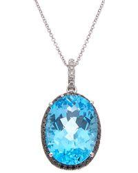 Effy - Fine Jewellery 14k 19.43 Ct. Tw. Diamond & Blue Topatz Necklace - Lyst