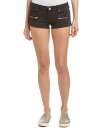 True Religion Joey Black Linen-blend Short