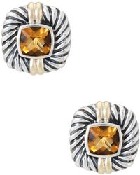 David Yurman - David Yurman Albion 14k & Silver 4.50 Ct. Tw. Citrine Earrings - Lyst