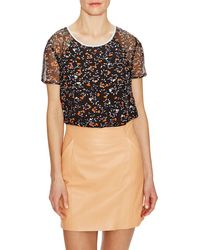 Ella Moss - Silk Printed Top - Lyst