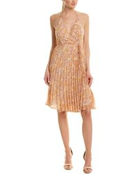 Astr - The Label Accordion Pleated Wrap Dress - Lyst