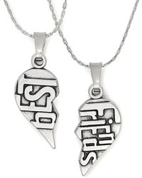 ALEX AND ANI - Silver Best Friends Set Of 2 32in Necklaces - Lyst