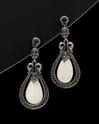 """Scott Kay - """"""""guardian"""""""" Silver 24.63 Ct. Tw. Gemstone Drop Earrings - Lyst"""