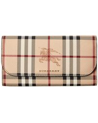 Burberry - Halton Haymarket Check & Leather Continental Wallet - Lyst