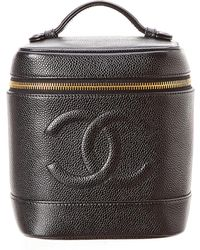 Chanel - Caviar Leather Vertical Cosmetic Case - Lyst