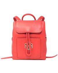 66a9b56ba5c Tory Burch Britten Leather Backpack in Black - Lyst