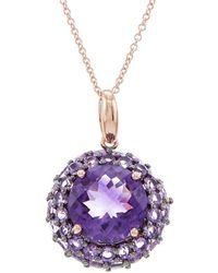 Effy - Fine Jewelry 14k Rose Gold 4.41 Ct. Tw. Amethyst Necklace - Lyst