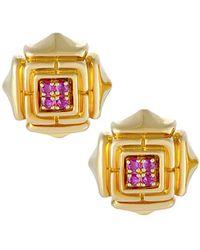 Cartier - Cartier 18k Ruby Drop Earrings - Lyst