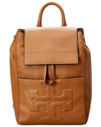 2fe619f11e68 Tory Burch - Bombe T Flap Leather Backpack - Lyst
