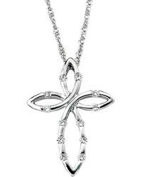 Samuel B Fine Jewelry - Samuel B. 14k 0.15 Ct. Tw. Diamond Necklace - Lyst