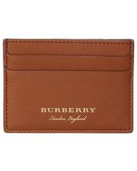 Burberry - Trench Leather Card Case - Lyst