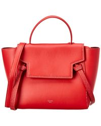 Céline - Micro Belt Bag Leather Tote - Lyst