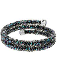 Swarovski - Crystaldust Double Bangle Bracelet - Lyst