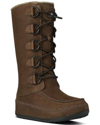 Fitflop - Tall Mukluk Leather Boot - Lyst