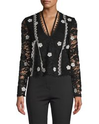 Alexis - Lace Embroidery Blouse - Lyst