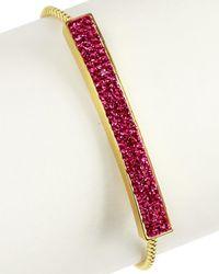 Saachi - Crystal Toggle Bracelet - Lyst