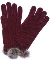 Phenix - Cashmere Honeycomb Knit Gloves - Lyst