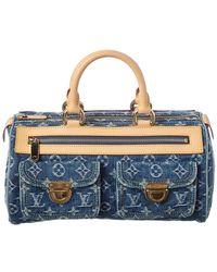 4b3698be5f1b Lyst - Louis Vuitton Blue Monogram Denim Neo Speedy in Blue