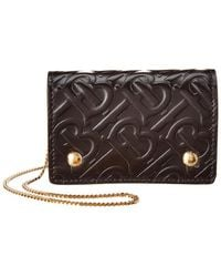 Burberry - Monogram Leather Card Case With Detachable Strap - Lyst