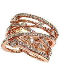 Effy - Fine Jewellery 14k Rose Gold 1.21 Ct. Tw. Diamond Ring - Lyst