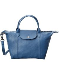 Longchamp - Le Pliage Cuir Small Top Handle Leather Tote - Lyst