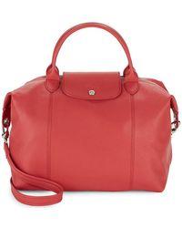 Longchamp - Le Pliage Cuir Leather Shoulder Bag - Lyst