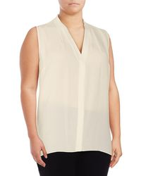 Vince Camuto - Draped V-neck Blouse - Lyst