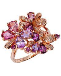 Le Vian - Multi-stone Flower Ring In 14k Rose Gold (2-3/4 Ct. T.w.) - Lyst