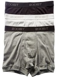 2xist - 2(x)ist Set Of 3 Fly-front Boxer Brief - Lyst