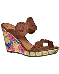 Jack Rogers - Livvy Leather Wedge Sandal - Lyst