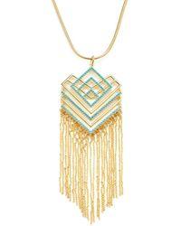 Noir Jewelry - Geometric Resin Necklace - Lyst