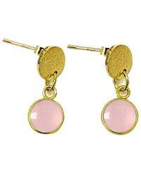 Charlene K - 14k Over Silver Rose Quartz Earrings - Lyst
