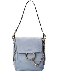 Chloé - Faye Small Leather & Suede Backpack - Lyst