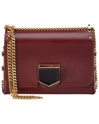 Jimmy Choo | Lockett Petite Spazzolato Leather Shoulder Bag | Lyst