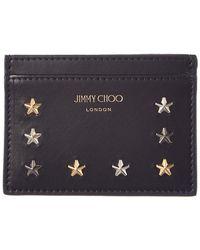 Jimmy Choo - Noella Star Embellished Leather Card Case - Lyst