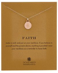 Dogeared - Faith 14k Over Silver Necklace - Lyst