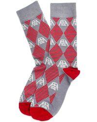 Star Wars - Darth Vader Argyle Stripe Gray Socks - Lyst