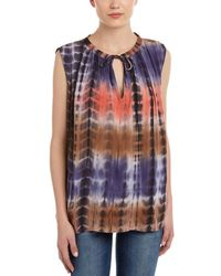 4our Dreamers - Tie-front Keyhole Top - Lyst