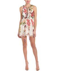 Hemant & Nandita - Rococo Sand Floral Silk Shift Dress - Lyst