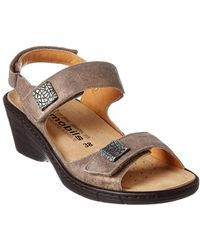 Mephisto - Maryse Suede Wedge Sandal - Lyst