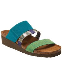 Naot - Brenda Wedge Leather Sandal - Lyst