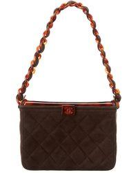Chanel - Brown Suede Vanity - Lyst