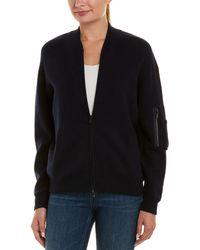 Autumn Cashmere - Cashmere & Wool-blend Bomber Jacket - Lyst